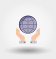 globe in the hands vector image