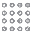 gray flat icon set 7 on circle vector image vector image