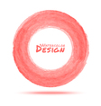 Hand drawn watercolor light red circle design elem vector image vector image