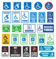 handicapped parking signs disabled people parking vector image vector image