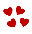 hearts set isolated vector image vector image