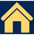 Home flat yellow color icon vector image vector image