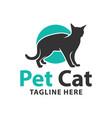human pet cat logo vector image vector image