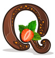 letter q candies chocolate vector image