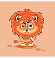 Lion cub angry vector image