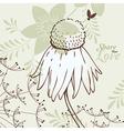 Love Flowers Elegant Card vector image