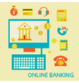 Online banking flat design ico vector image