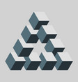 penrose or reutersvard triangle vector image vector image