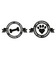 pet friendly icon symbol badge vector image vector image