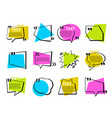 quotations and speech bubbles collection - set of vector image