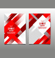 red and white grunge sports template set