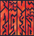 red color tribal geometric seamless pattern vector image