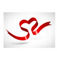 Red Heart Ribbon vector image