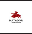 red matador vector image