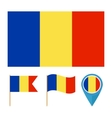 Romania country flag vector image vector image