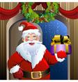 Santa delivery service vector image vector image