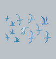 sea gulls set vector image vector image
