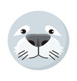 seal face in flat design vector image vector image