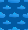 seamless pattern of clouds on dark blue sky vector image
