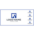 set negative space letter a logo vector image vector image