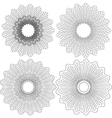 set of 4 guilloche pattern rosette vector image vector image