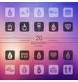 set of donation icons vector image