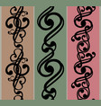 set of seamless black patterns eps10 vector image