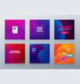 set social sale banner background template use vector image vector image