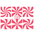 set striped pink sweet abstract candy vector image