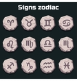 Signs of the zodiac on the old stones
