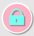 Sketch padlock with keys in flat style vector image