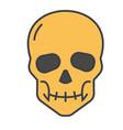skull concept line icon editable stroke vector image
