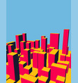 skyline city dawn abstract town industrial vector image