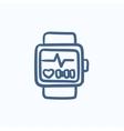 Smartwatch sketch icon vector image vector image