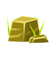 smoothed square stones rocks in natural vector image vector image