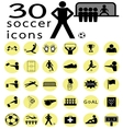 soccer icon1 vector image