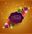 sparkling diwali festival crackers background vector image vector image