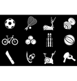 Sport equipment symbols vector image
