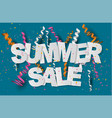 summer sale banner design concept high quality vector image vector image