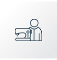 tailor icon line symbol premium quality isolated vector image