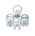 team work concept isolated icon vector image vector image