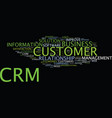 the benefits and the dangers of crm text vector image vector image