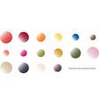 trendy color scheme by gradient rounds vector image
