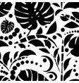 tropical leaves seamless pattern monstera leaves vector image vector image