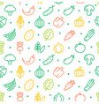 vegetables food shop pattern background vector image