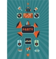 Vintage music party poster for a night club vector image vector image