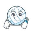 waiting volley ball character cartoon vector image vector image