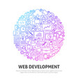 web development circle concept vector image vector image