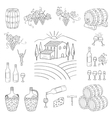 Wine and wine making set vector image vector image