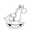 wood rocking horse baby or shower related ico vector image vector image
